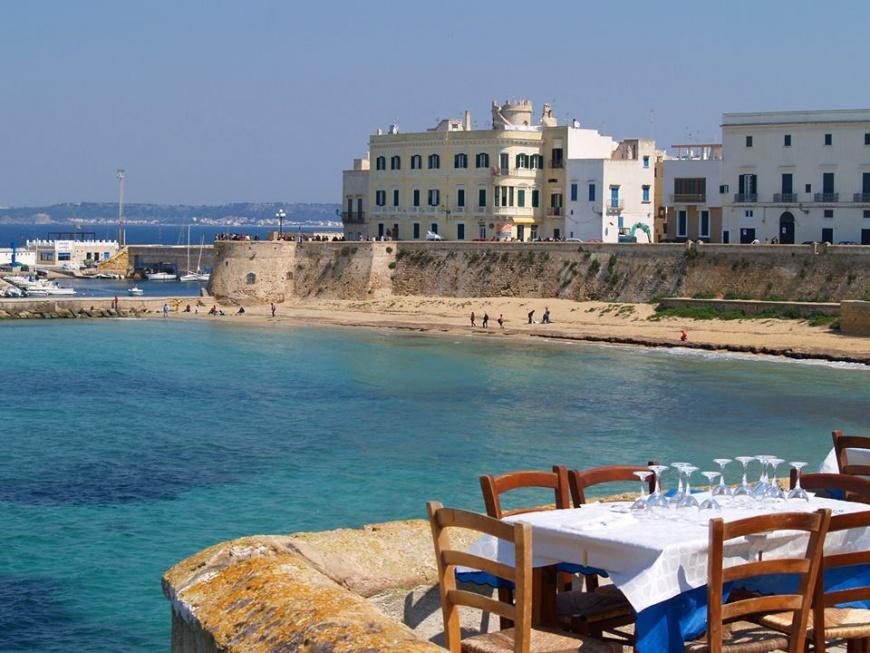 pranzo all'aperto in vacanza a Gallipoli